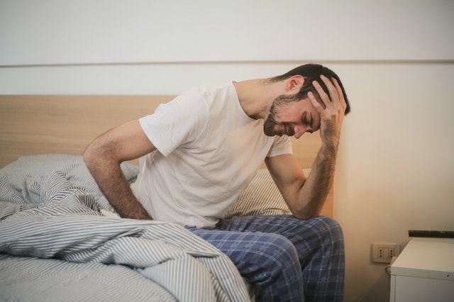 Injured person in bed