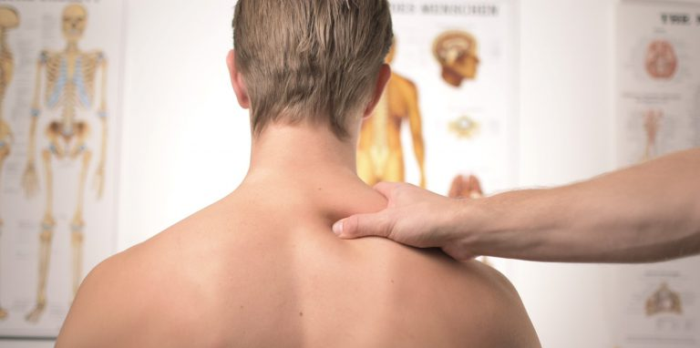 Man receives treatment for a neck innjury
